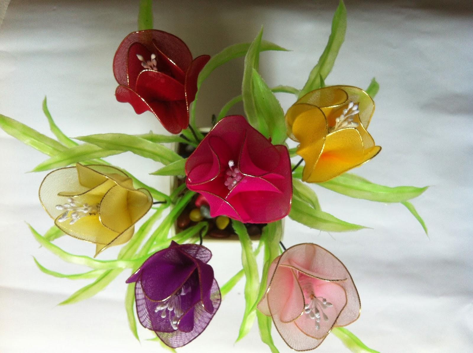 Handmade stocking flowers singapore handmade art and for Art and craft flowers
