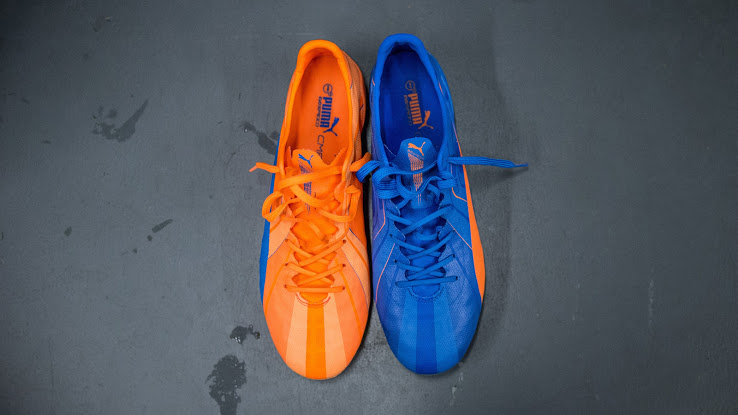 Kết quả hình ảnh cho Puma evoPower Tricks 2015-2016 Electric Blue/Clown Fish Orange