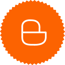 Round simple blogger logo orange