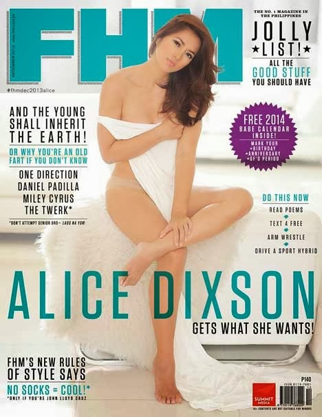 Alice Dixson FHM cover girl december 2013