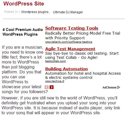 Wrap Text Around Adsense Ads