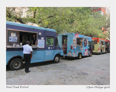 image of The Food Truck Festival in South Street Seaport - NYC, New York