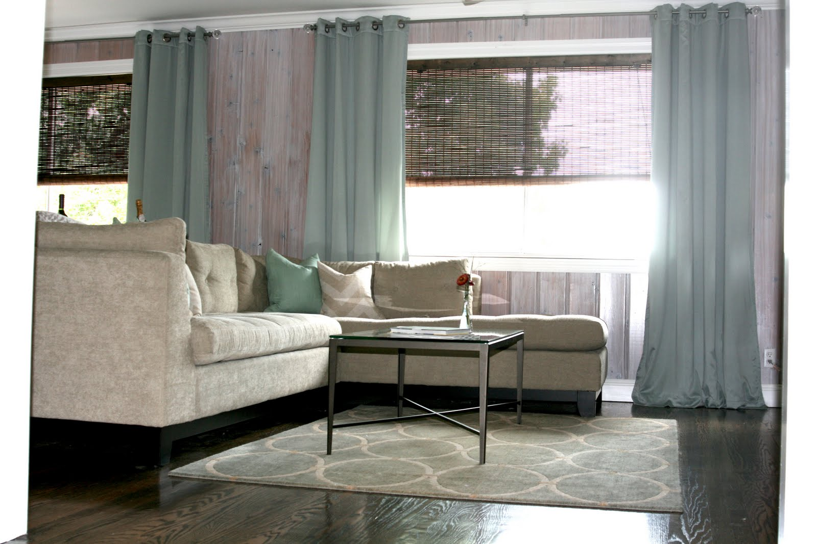 just a touch of gray living room reveal. Black Bedroom Furniture Sets. Home Design Ideas