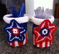 Crochet Masion Jar Covers  by Helen