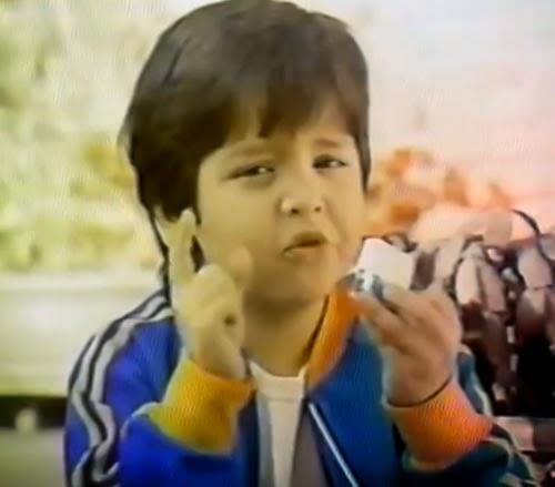 """Propaganda do queijo Polenguinho em 1989: """"O gostoso pedaço da vida""""."""
