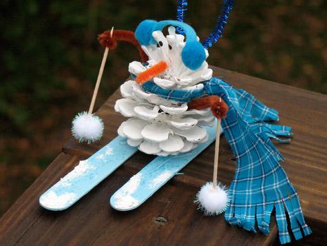Лыжник своими руками фото
