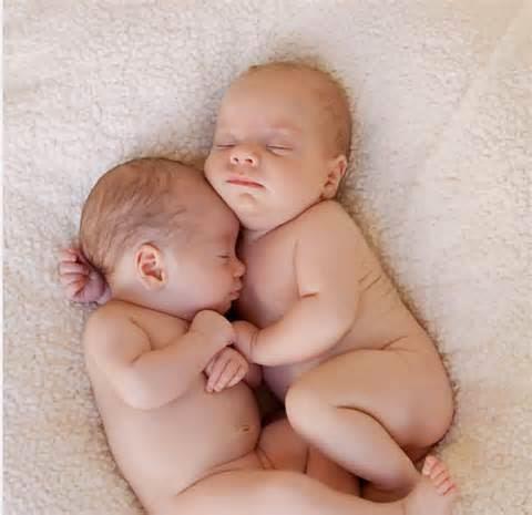 gambar bayi kembar tidur