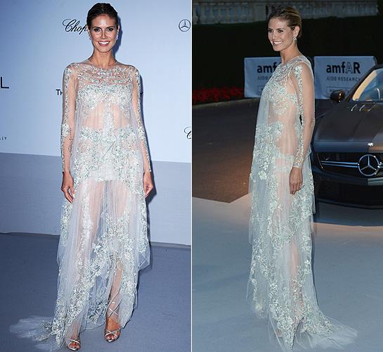 Heidi Klum transparent dress
