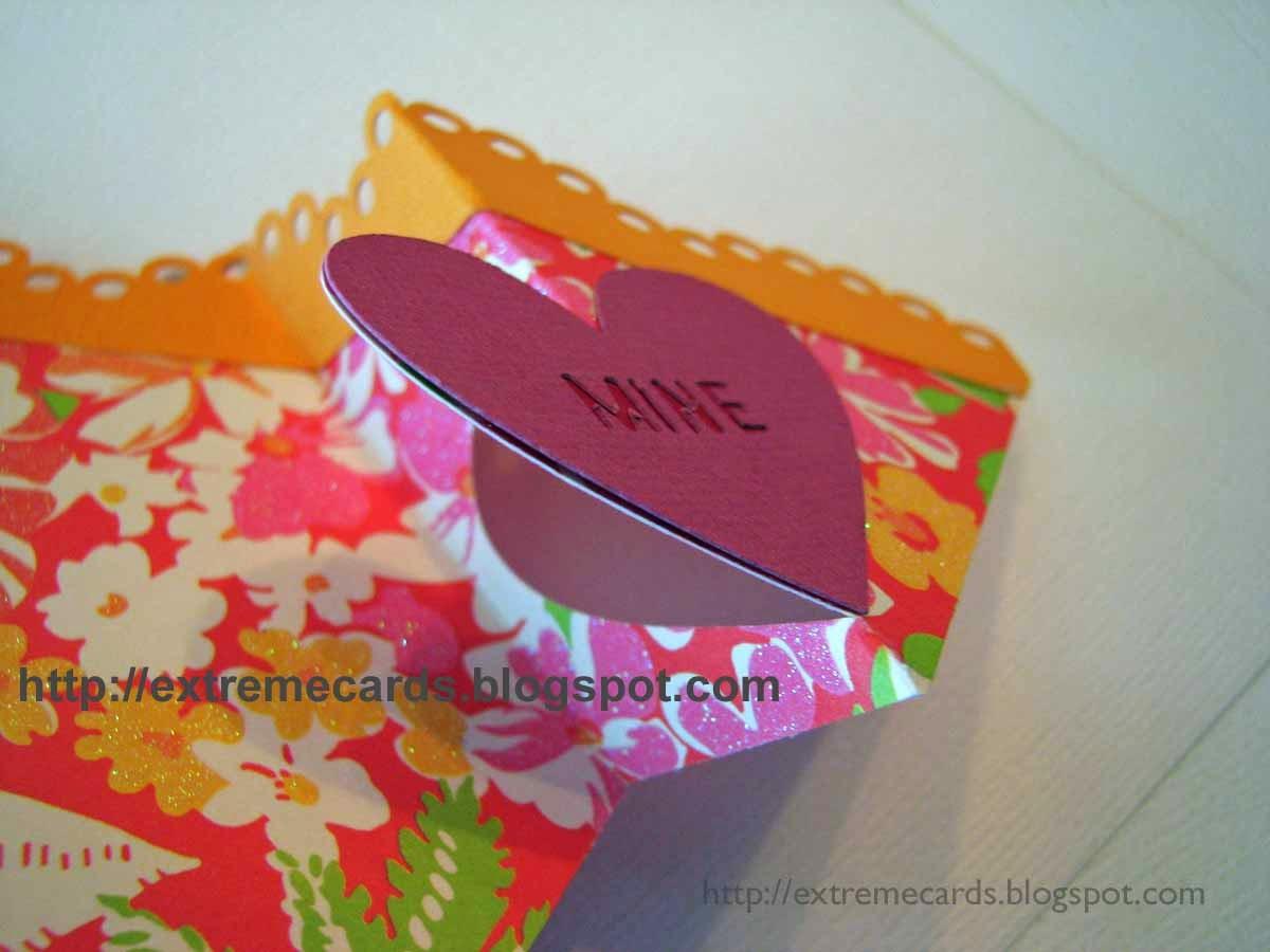 glue hearts to base card