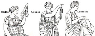 The three Fates - Clotho, Atropos and Lachesis