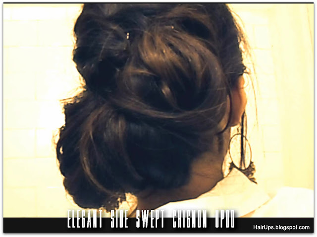 classic chic low side chignon bun for formal occasion - Hair Tutorial Video