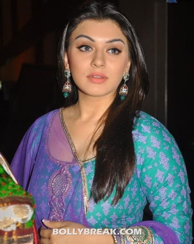 Hansika Motawani in green suit - Hansika Motawani in Salwar Kameez at ok ok audio release