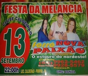 TRADICIONAL FESTA DA MELANCIA