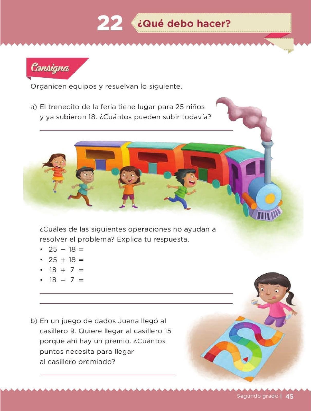 Apoyo Primaria Desafíos Matemáticos 2do Grado Bloque 2 Lección 22