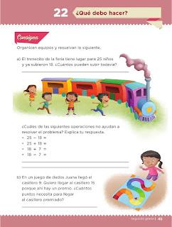 Apoyo Primaria Desafíos Matemáticos 2do Grado Bloque 2 Lección 22 ¿Qué debo hacer?
