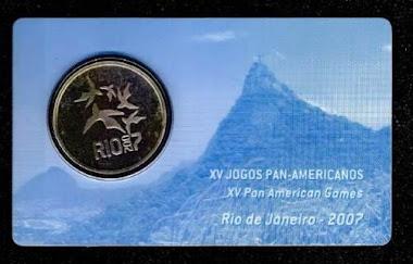 Moeda 2 Reais Ano 2007 Xv Jogos Pan - Americanos No Estojo