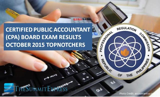 Top 10 Passers: Dagupan grad tops October 2015 CPA board exam