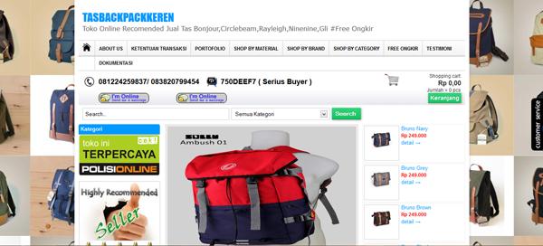 Tasbackpackkeren.com Toko Online Terpercaya