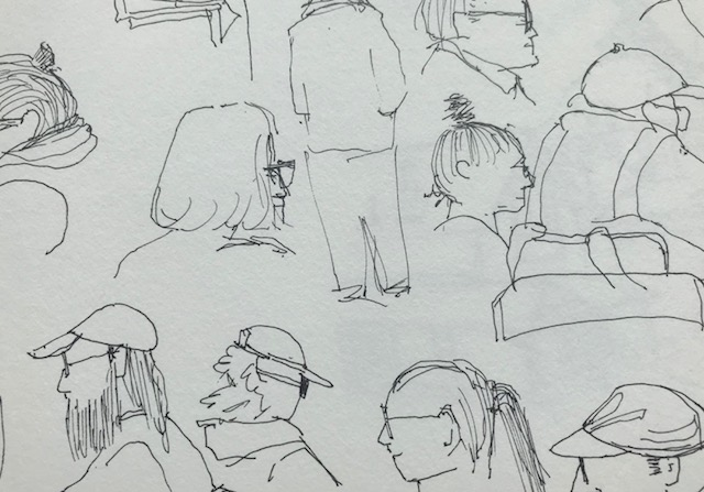 Sketch On Left By Frank Katie