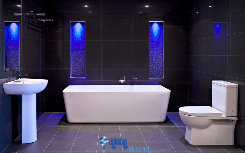 led bathroom lighting awesome bathroom design with blue led lights bathroom lighting ideas bathroom
