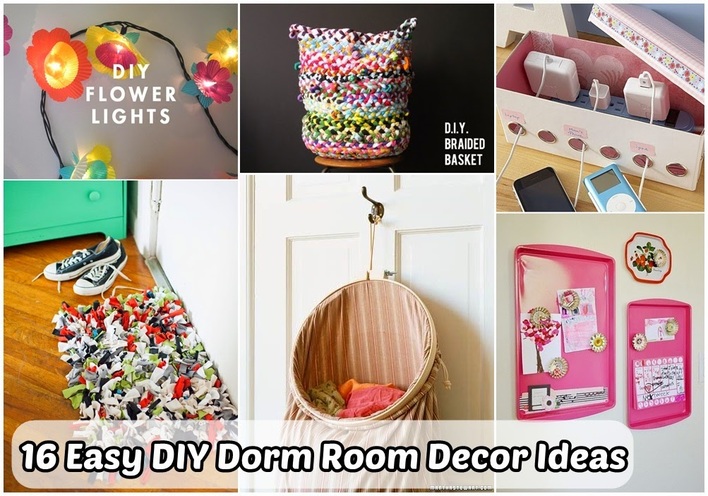 16 easy diy dorm room decor ideas diy craft projects