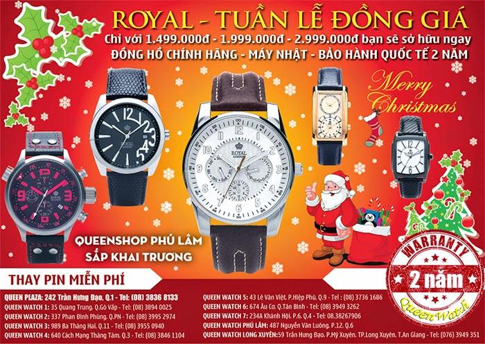Mua đồng hồ cao cấp chính hãng tại Queen Watch quận 1