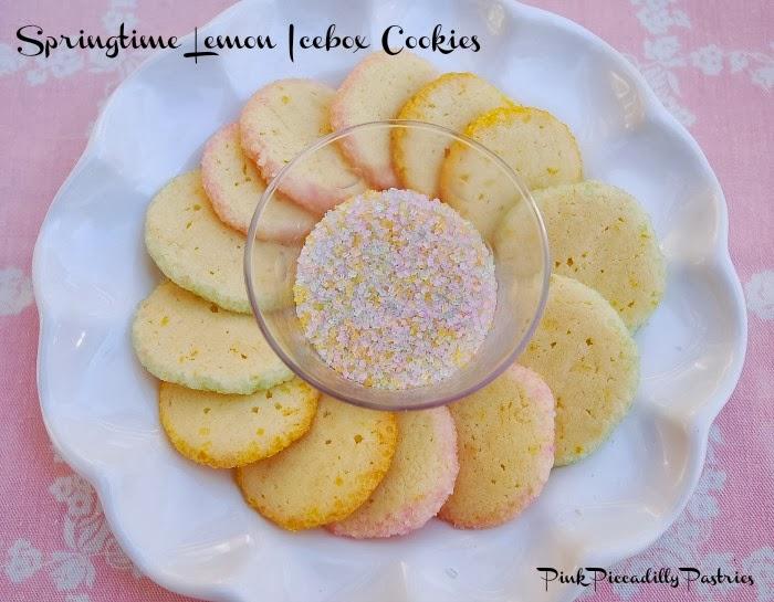 Pink Piccadilly Pastries: Springtime Lemon Icebox Cookies