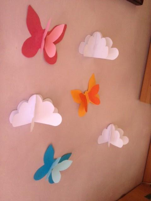 Universo annette nubes y mariposas en 3d para decorar - Mariposas para decorar ...