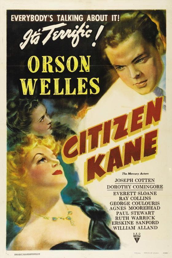 Cartel 'Ciudadano Kane' (1941) de Orson Welles. Una película para periodistas. Making Of. Cine