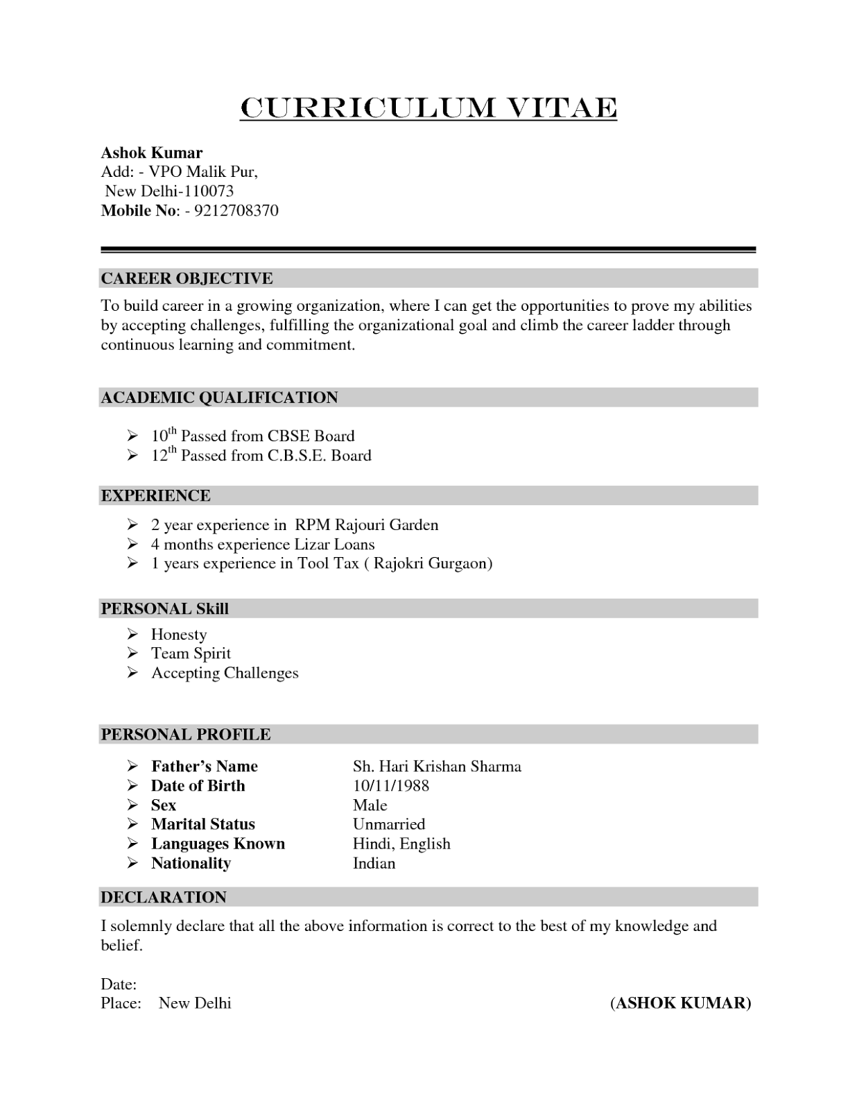 my english pages online  unit 2  curriculum vitae