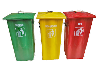 Tong sampah tutup gagang 100 ltr