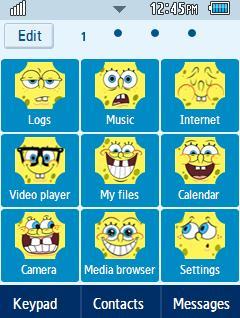 Anime Spongebob Samsung Corby 2 Theme Menu