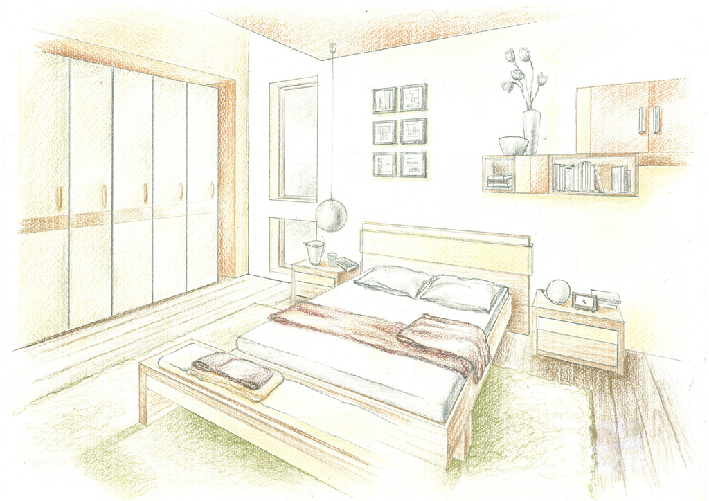 Interior design hand drawings alexandra l nicolaescu for Interior designers in