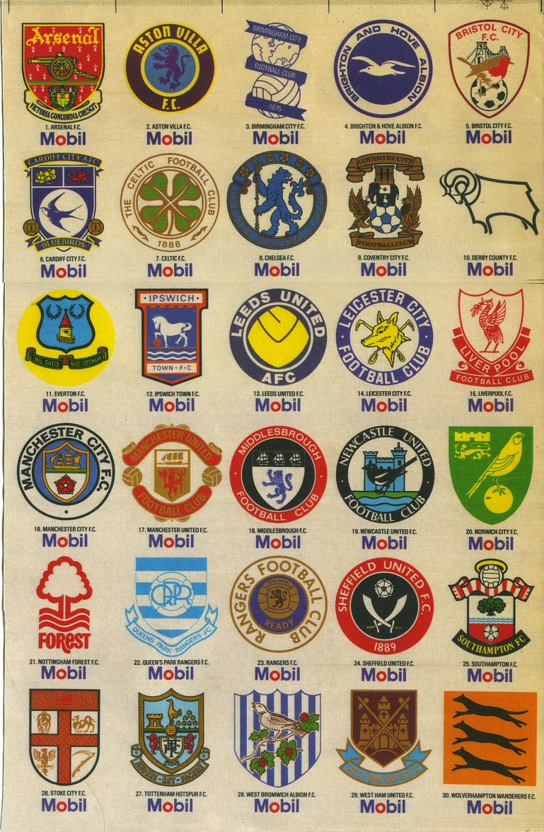 United Kingdom Football Club Crests, Badges Logos