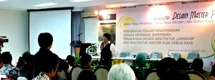 Sustainable Development Speech by Ikang Fawzi, the New AmbassadorS of LIPI for Kebun Raya Indonesia