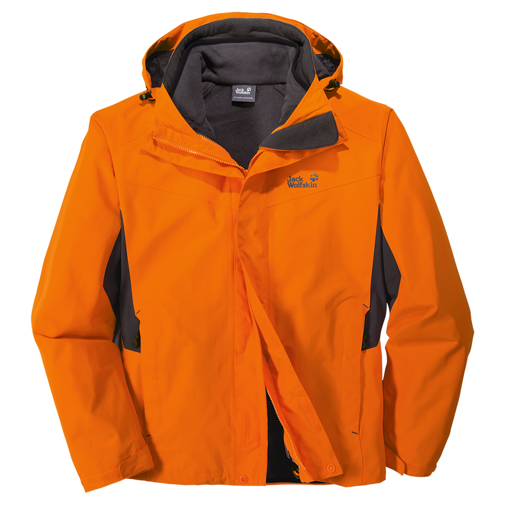 Jacket Jack Wolfskin Warna Orange