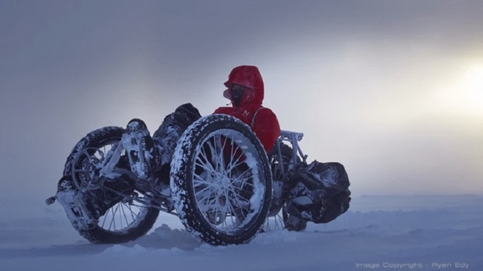 This Tricycle Is Headed Across The South Pole Snow