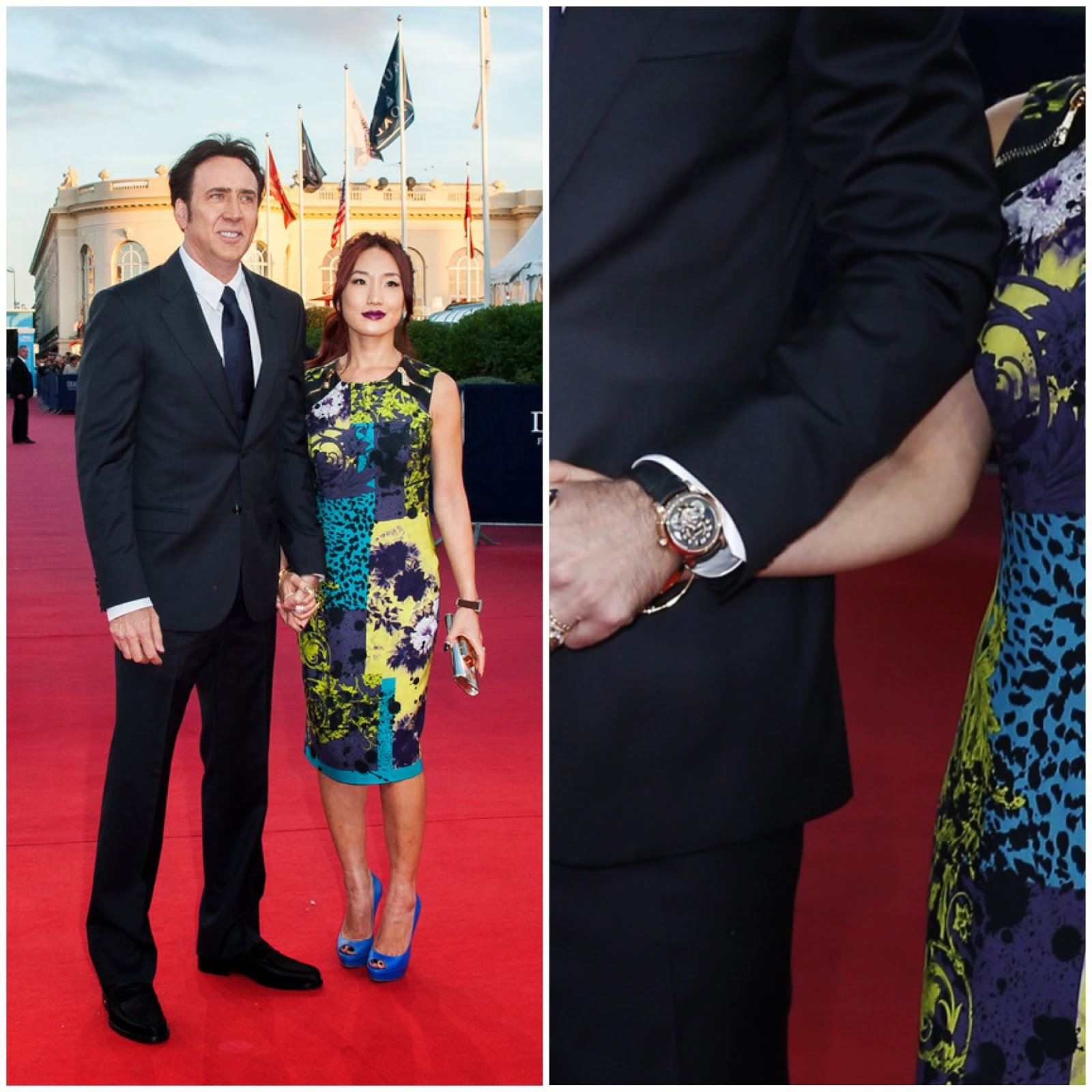00O00 Menswear Blog: Nicolas Cage wearing the Montblanc Nicolas Rieussec Open Home Time at the 39th Deauville American Film Festival