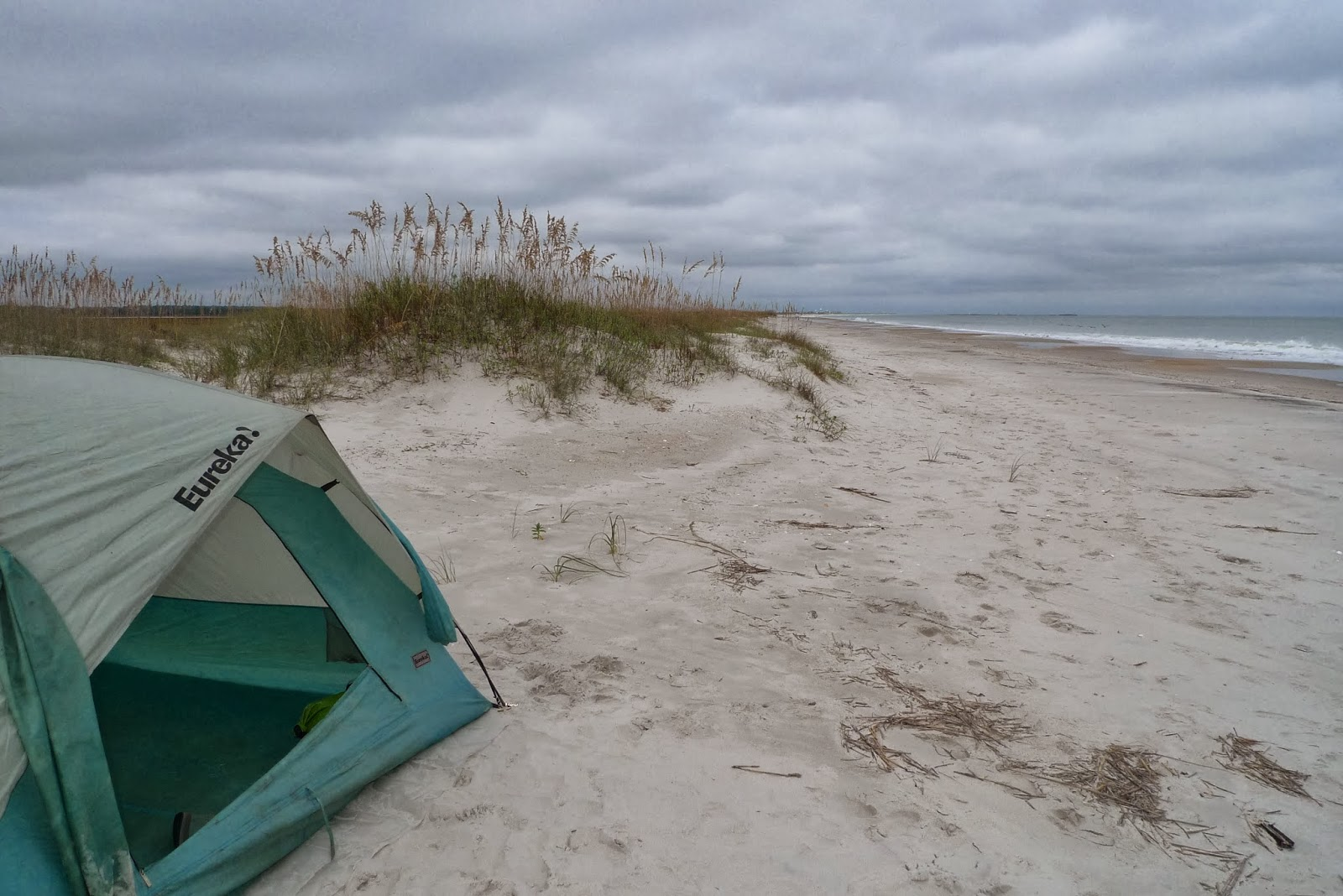 Christine Hennessey: Camping at Masonboro Island