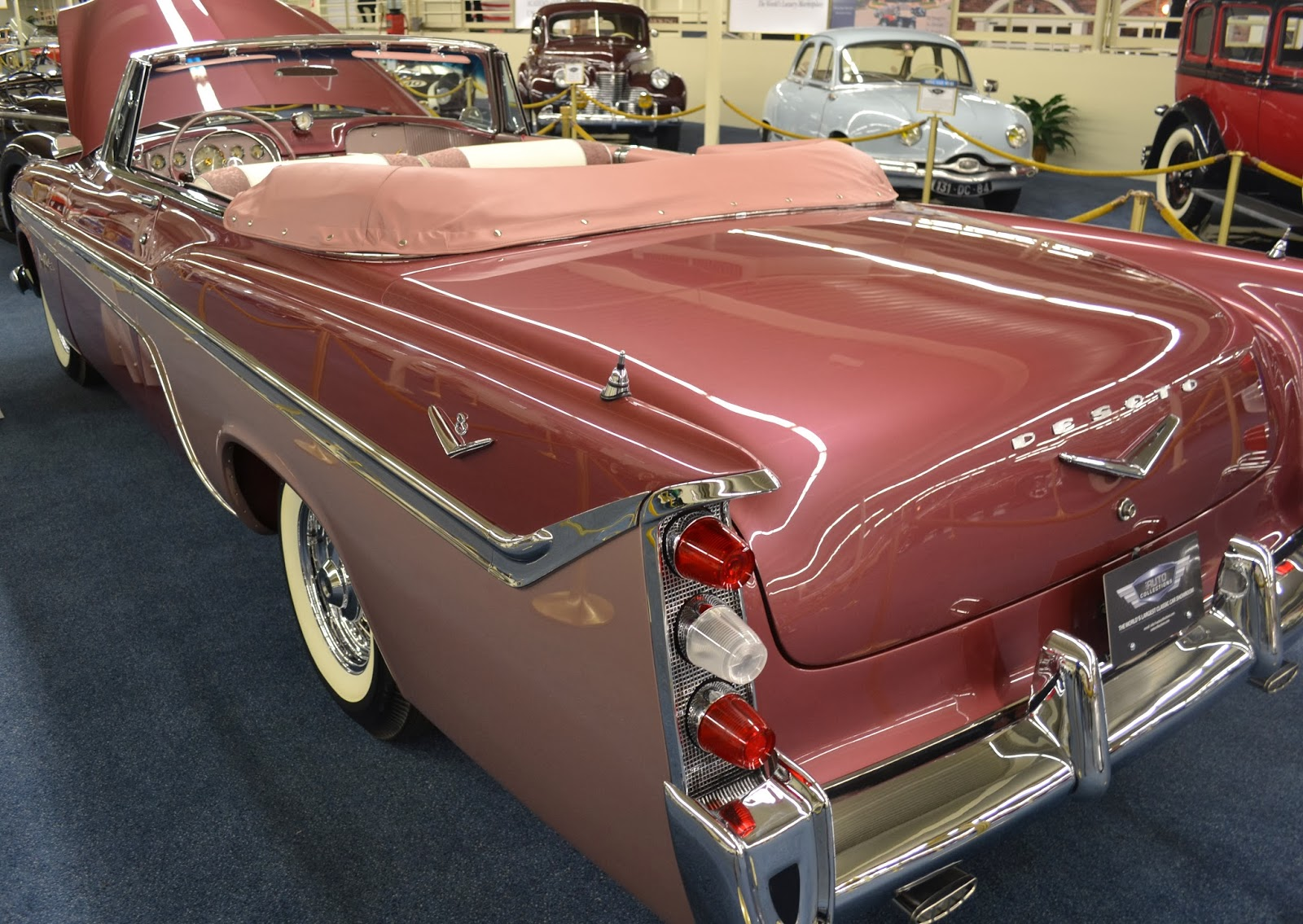 1956 desoto fireflight convertible interior includes a - Rare Options Include The Desoto Matic Benrus Self Winding Steering Wheel Mounted Clock And The Coolest Highway Hi Fi Car Phonograph