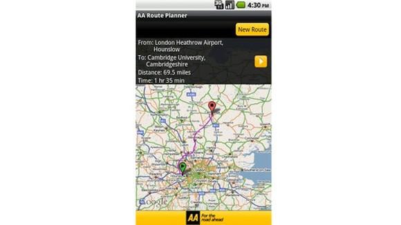 Aa Journey Planner Car Uk