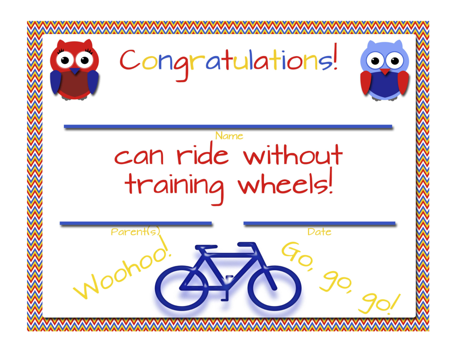 My fashionable designs no more training wheels free printable created by xflitez Image collections