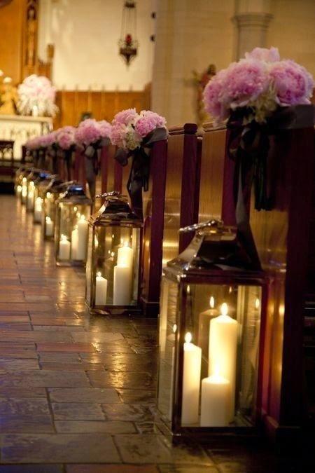 Velas pasillo altar