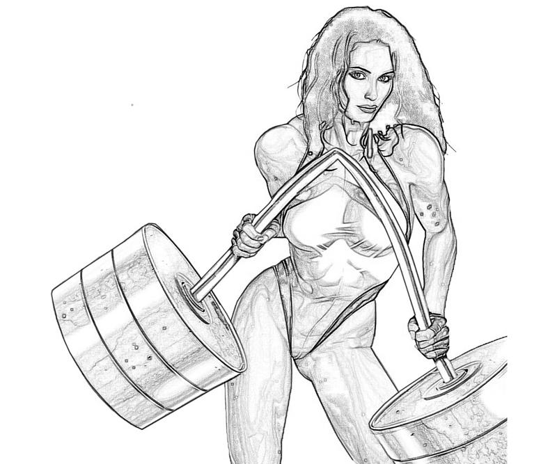Marvel Ultimate Alliance 2 She Hulk Strong Coloring Pages