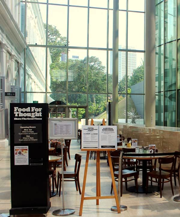 Cafe in the Singapore museum