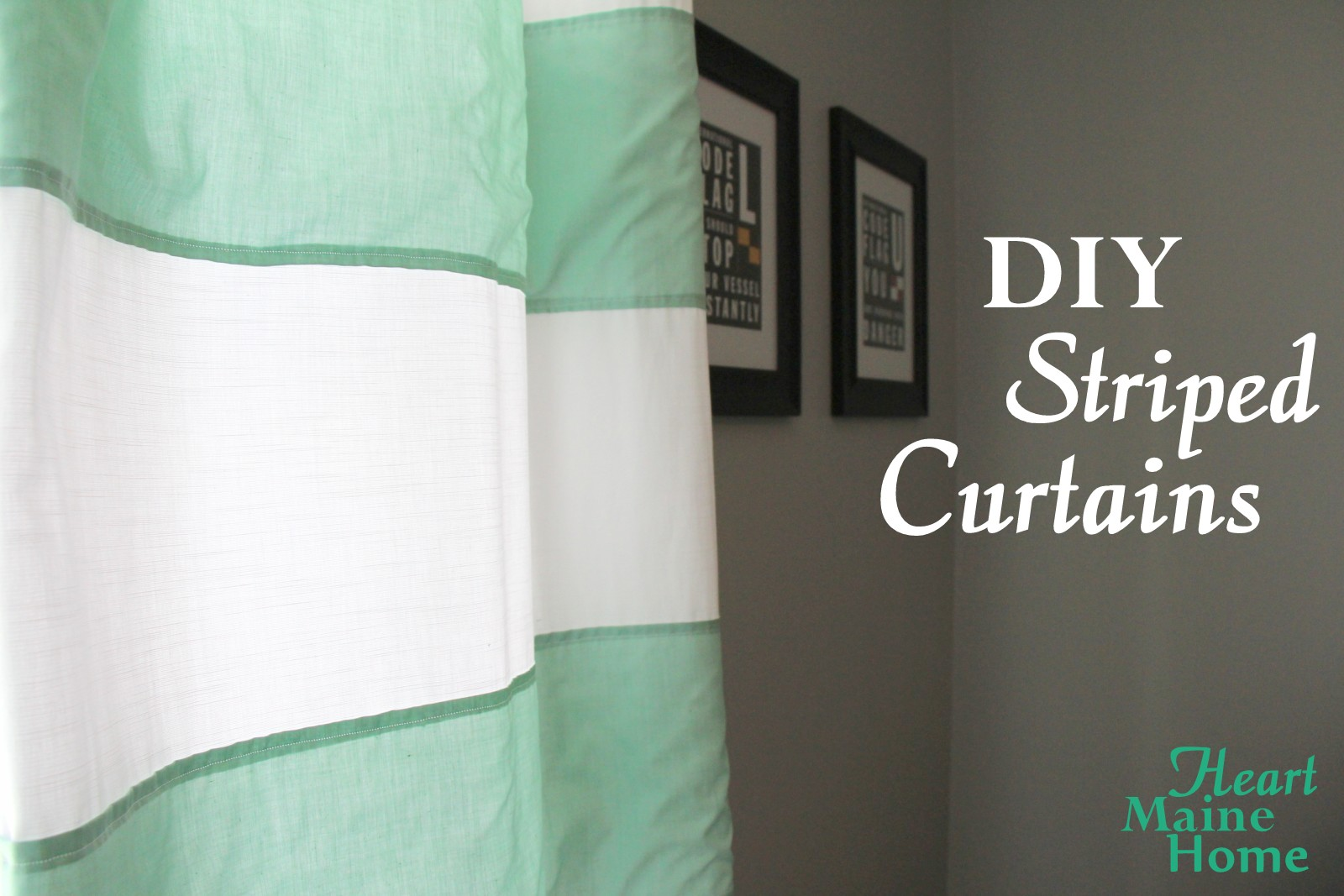 striped curtains diy