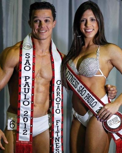 Handrey e Nathália, o Garoto e Garota Fitness São Paulo 2012