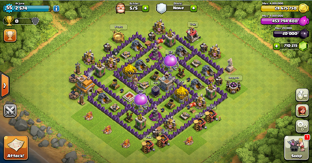 Design Farming Base Clash Of Clans TH 7