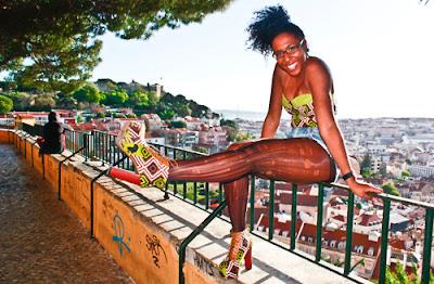 Nónó Moda African Print Jeffrey Campbell style