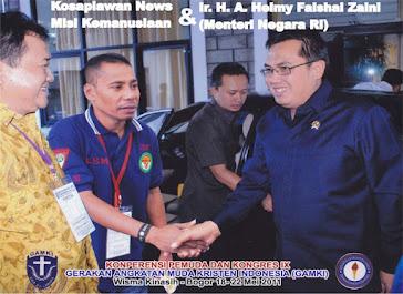 kosaplawan news bersama Menteri RI